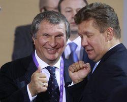 """Главы """"Роснефти"""" Сечин и """"Газпрома"""" Миллер"""
