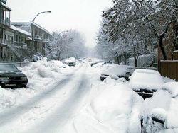 Индианаполис засыпало снегом