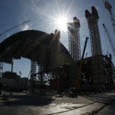 Над Чернобыльской АЭС начали установку первой части конфайнмента