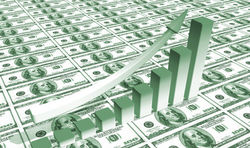 Курс доллара к евро на Forex продолжает расти во второй половине дня