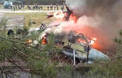 Пилоты разбившегося Ка-52 увели его из жилых районов
