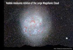 Хаббл впервые измерил скорость вращения звезд в Большом Магеллановом Облаке