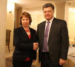 Петр Порошенко встретился в Раде с  Кэтрин Эштон
