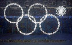 Олимпийские кольца со снежинкой