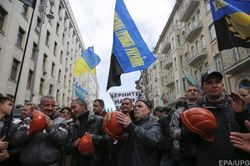 Тень Ахметова за бастующими шахтерами в Киеве