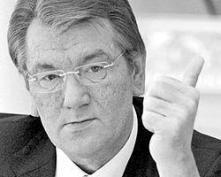 Ющенко похвалил студентов и образно остался на Майдане