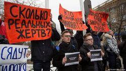 Акция протеста в Кемерово с требованиями наказать виновных трагедии в ТРЦ
