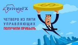 Инвестпортфель «PrivateFX №1»: четверо из пяти управляющих получили прибыль
