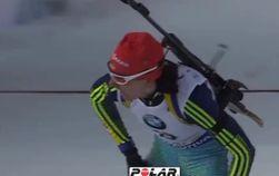 Украинка Пидгрушная победила в спринте Кубка мира по биатлону