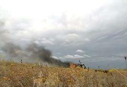 В мирном районе Луганской области на фугасе подорвался УАЗ с пограничниками