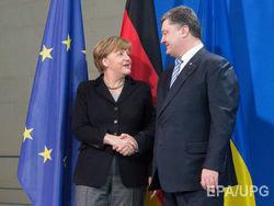 Порошенко обговорил с Меркель антироссийские санкции