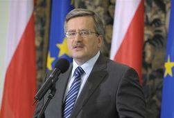 Президент Польши Коморовский выступает в Верховной Раде