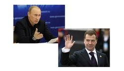 Путин и Медведев - самые популярные политики РФ сентября 2014г.