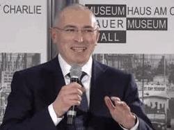 М. Ходорковский на пресс-конференции в Берлине
