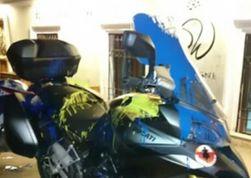 В Тбилиси мотоциклы россиян раскрасили в цвета украинского флага