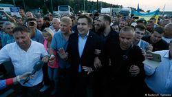 Саакашвили встретили на границе Украины