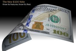 В США вводится в обращение новая банкнота номиналом в 100 долларов