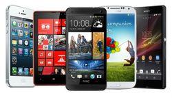 25 популярных смартфонов у россиян июля 2014г. в Интернете