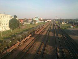 Минобороны Беларуси утверждает, что в Гомель прибыл эшелон с его техникой