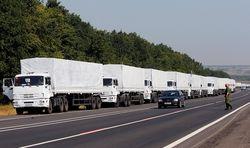 Третий конвой гумпомощи РФ уже на территории Украины