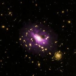 Во многих сливающихся галактиках обнаружены сверхмассивные черные дыры