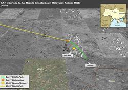 Посольство США показало траекторию ракеты сбившей Боинг