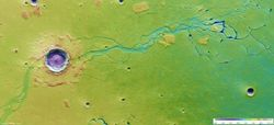 Mars Express сделал новые снимки огромных кратеров на Марсе