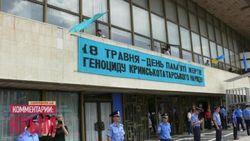 Даже воду пить запретили крымским татарам на митинге 18 мая