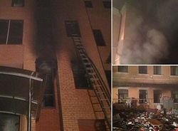 В горевшем офисе КПУ взломаны сейфы и обнаружены канистры с бензином
