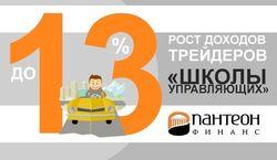 «Пантеон-Финанс»: до 13% возросли доходы трейдеров «Школы Управляющих» Форекс