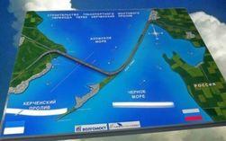 Началось строительство временного моста через Керченский пролив