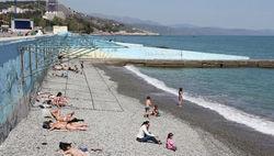 Пустые пляжи Крыма в 2017 году