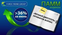 Более 36% дохода получили в июне инвесторы Форекс на индексах ПАММ ForexTrend