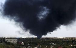 В аэропорту Донецка после боя загорелся терминал