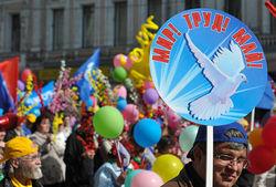 Первую за 23 года первомайскую демонстрацию в Москве провели по-советски