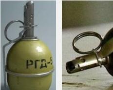 В Киеве в милицию бросили боевую гранату – снаряд не разорвался