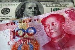 Курс доллара США растёт к юаню на фоне спада в перерабатывающей промышленности Китая
