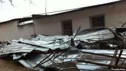 Ветер снес крыши новых домов в Узбекистане
