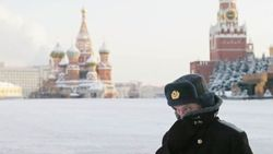 Красная площадь в Москве. Холодно