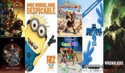 45 самых популярных мультфильмов июня 2014г. у россиян в Интернете