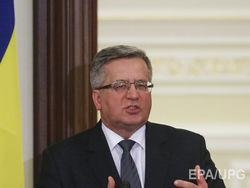 Коморовский исключает сотрудничество с РФ на условиях Кремля