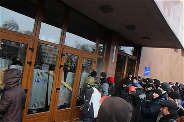 Активисты захвата Днепропетровской ОГА обвиняют в беспорядках власти