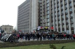 В центре Донецка взорвали автомобиль Пушилина