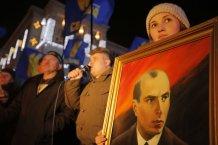 Память Бандеры почтили по всей Украине шествиями, митингами, автопробегами