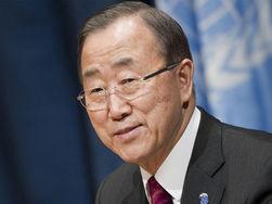 Пан Ги Мун призвал Порошенко вывести страну из кризиса