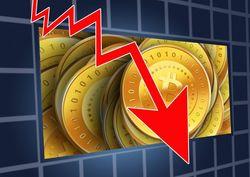 Стоимость биткойна опустилась ниже 9 тыс. долл.