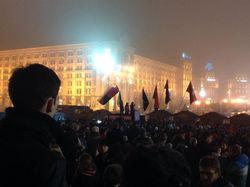 Евромайдан Киева переходит в круглосуточный режим