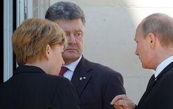 Опубликовано видео  разговора между Меркель, Путиным и Порошенко