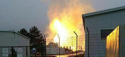 Взрыв газового хаба в Баумгартене