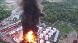 На горящую под Киевом нефтебазу направили танки – Аваков